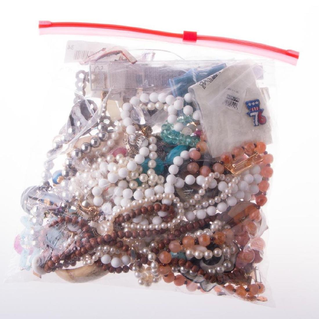Collection of beaded, costume jewelry and medals - 3
