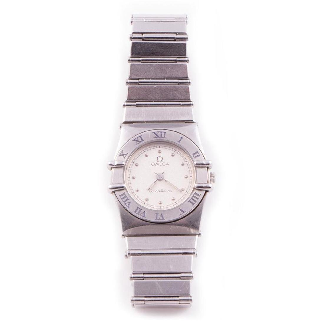 Omega Constellation ladies stainless steel wristwatch