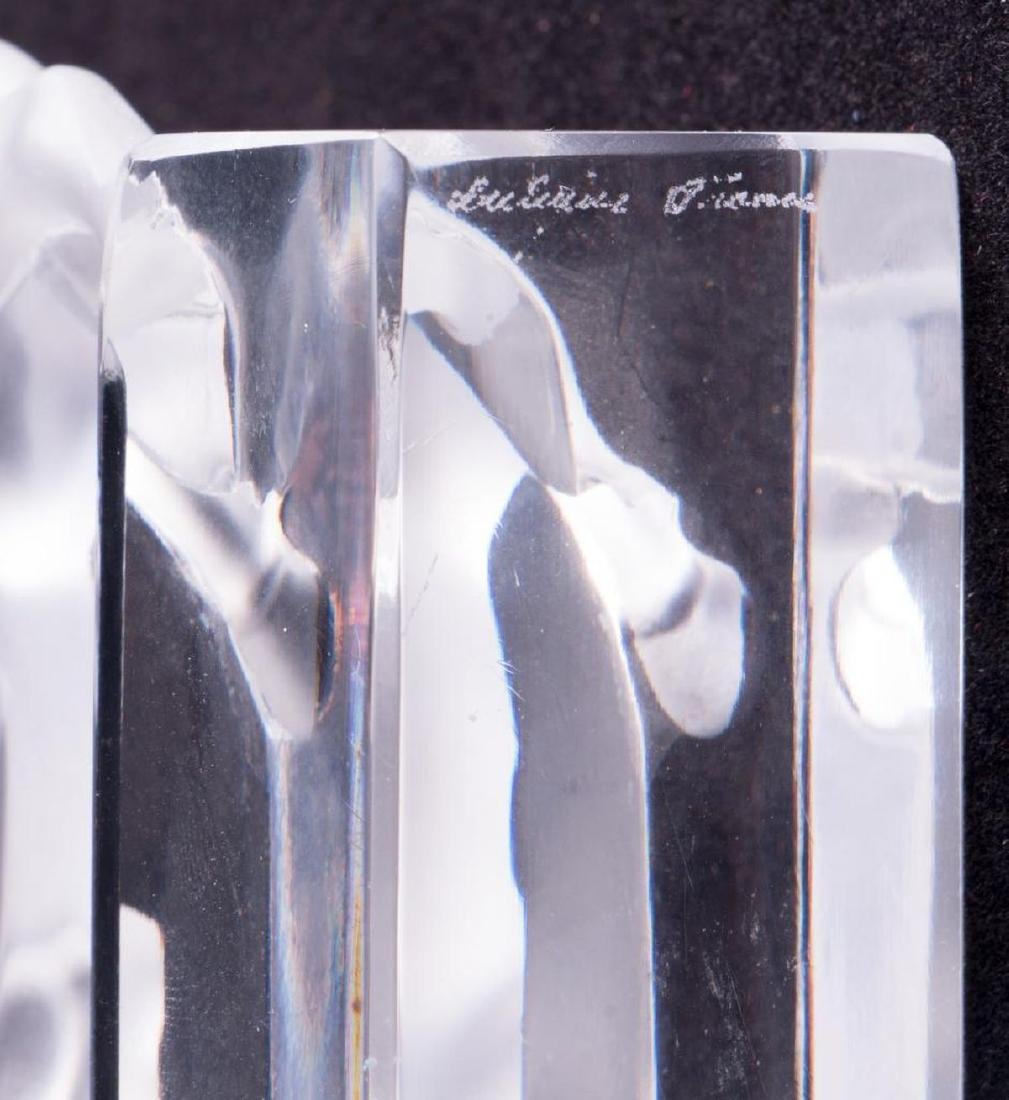 Lalique France crystal bull paperweight - 6