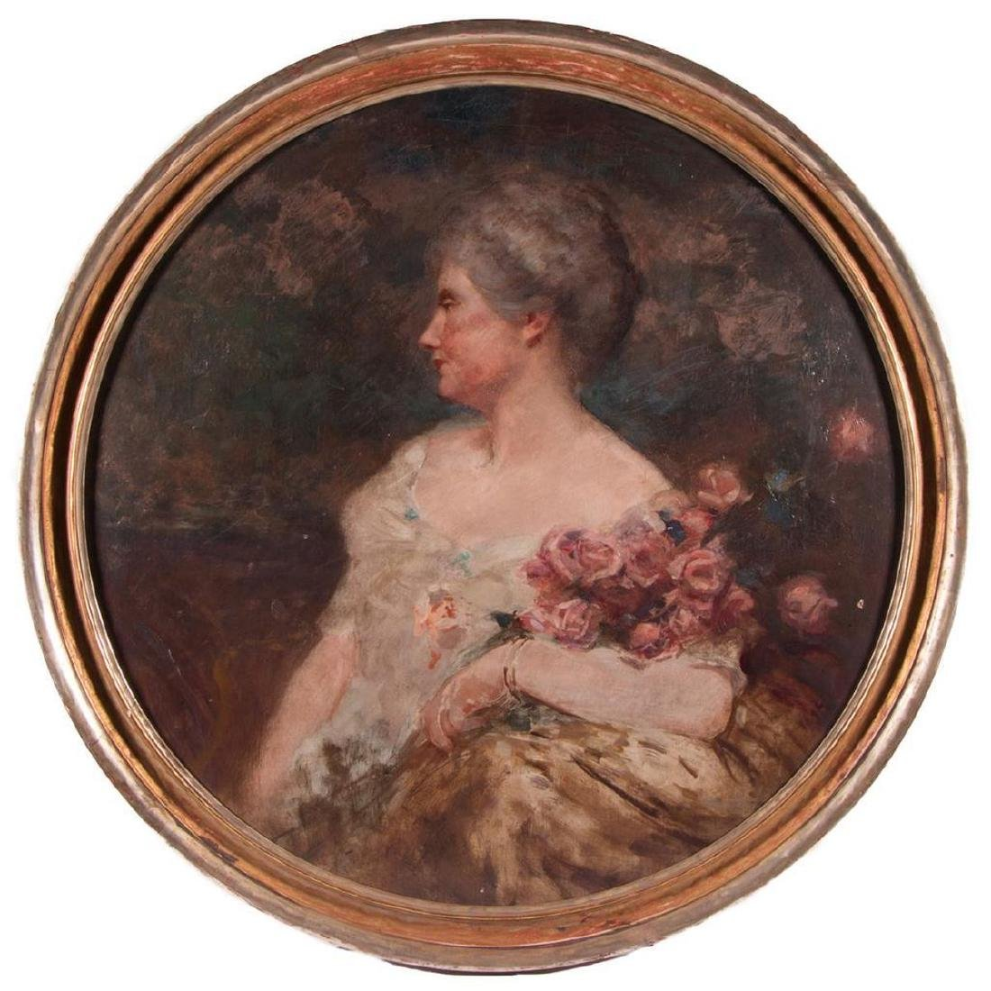 Portrait of Phoebe Hearst. Attributed to Orrin Peck