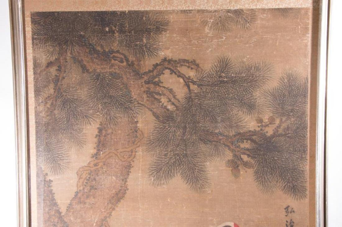 An 18th / 19th century Chinese painting of cranes. - 2