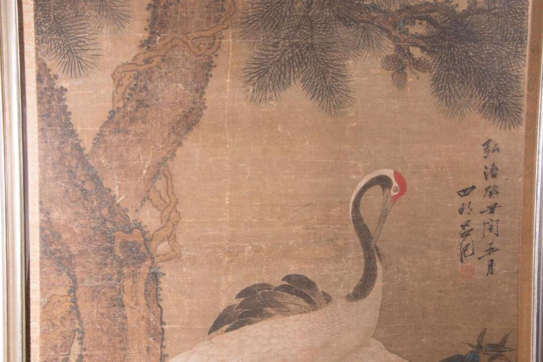 An 18th / 19th century Chinese painting of cranes. - 3