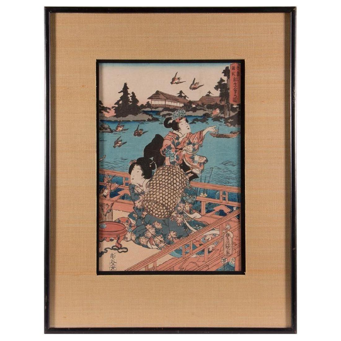 A Japanese woodblock print by Kunisada.