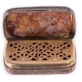 A Georgian silver vinaigrette.