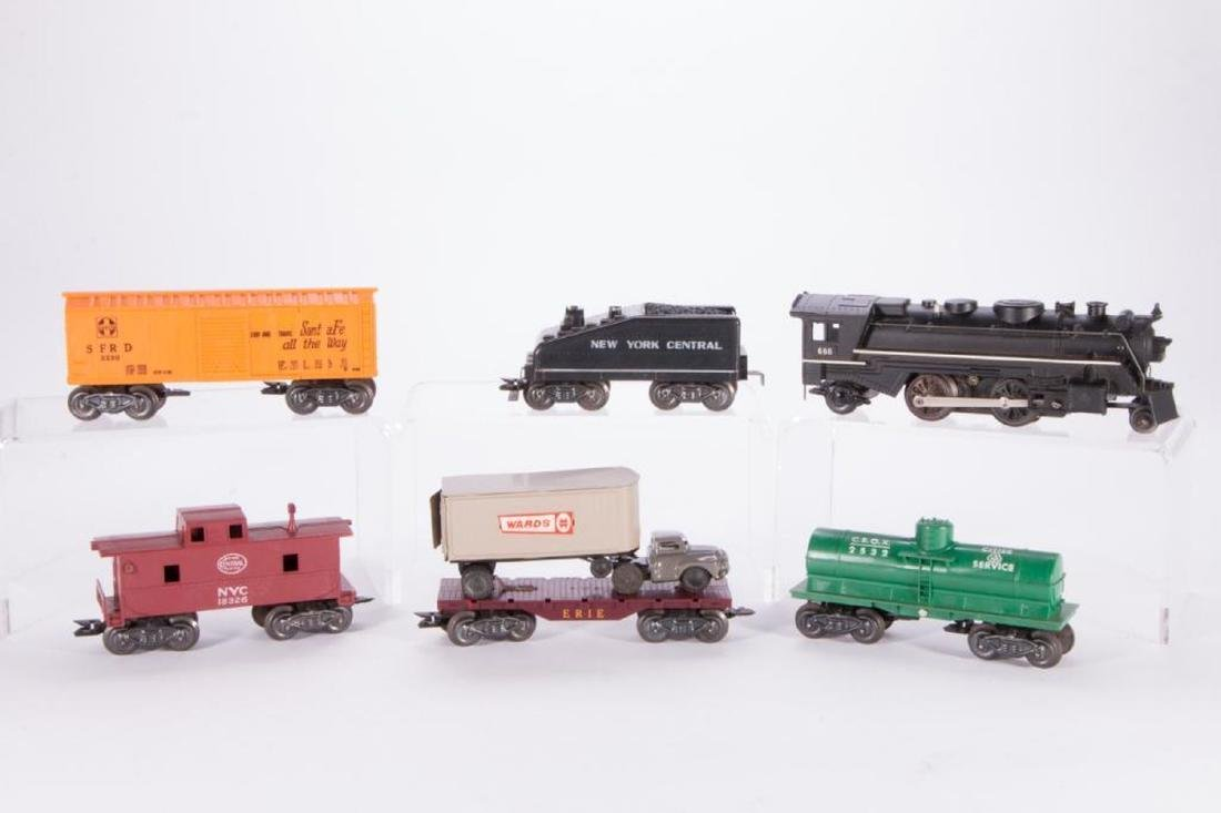 Marx O Gauge Smoking Steam Engine w/Freight Boxed Set - 4