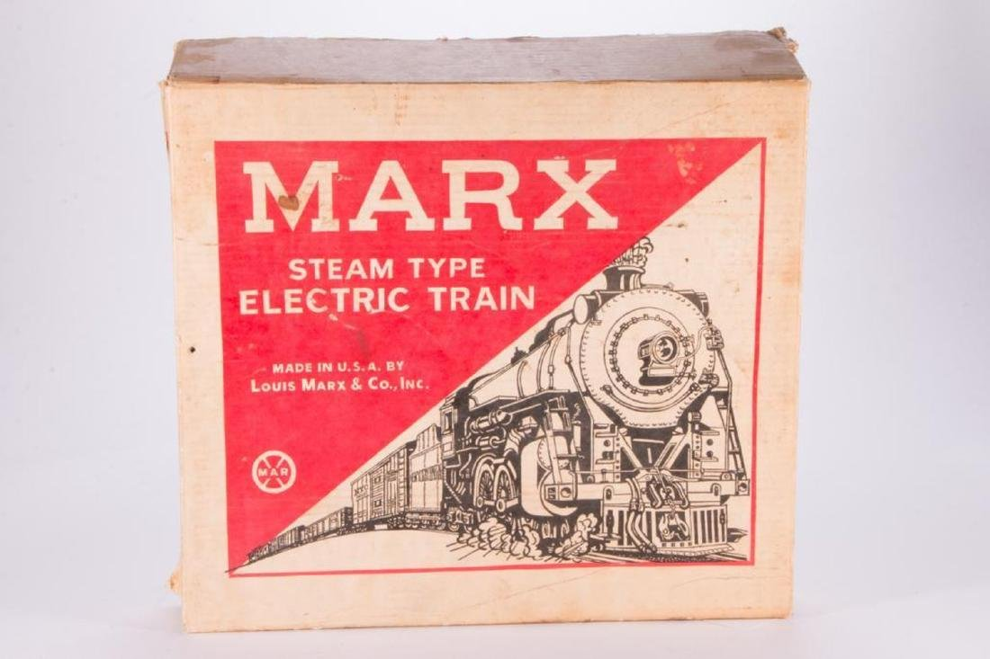 Marx O Gauge Smoking Steam Engine w/Freight Boxed Set - 7