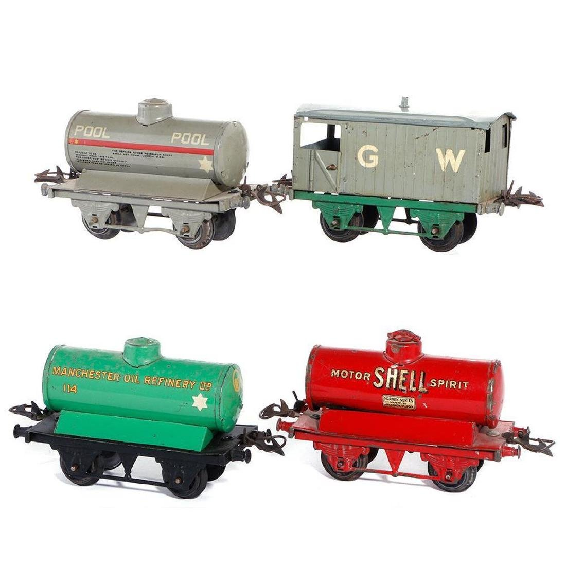 Group of Hornby freight cars