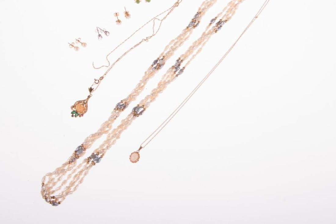 Collection of gem-set and 14k gold jewelry - 2