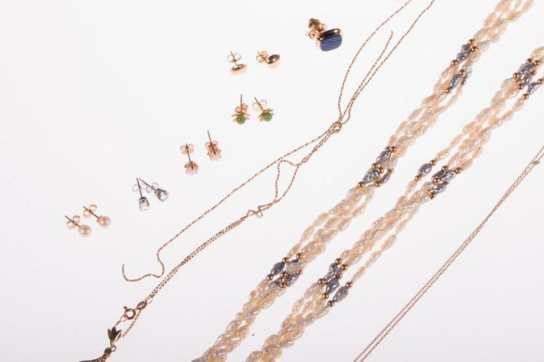 Collection of gem-set and 14k gold jewelry - 3