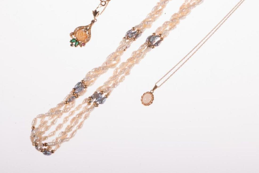 Collection of gem-set and 14k gold jewelry - 4