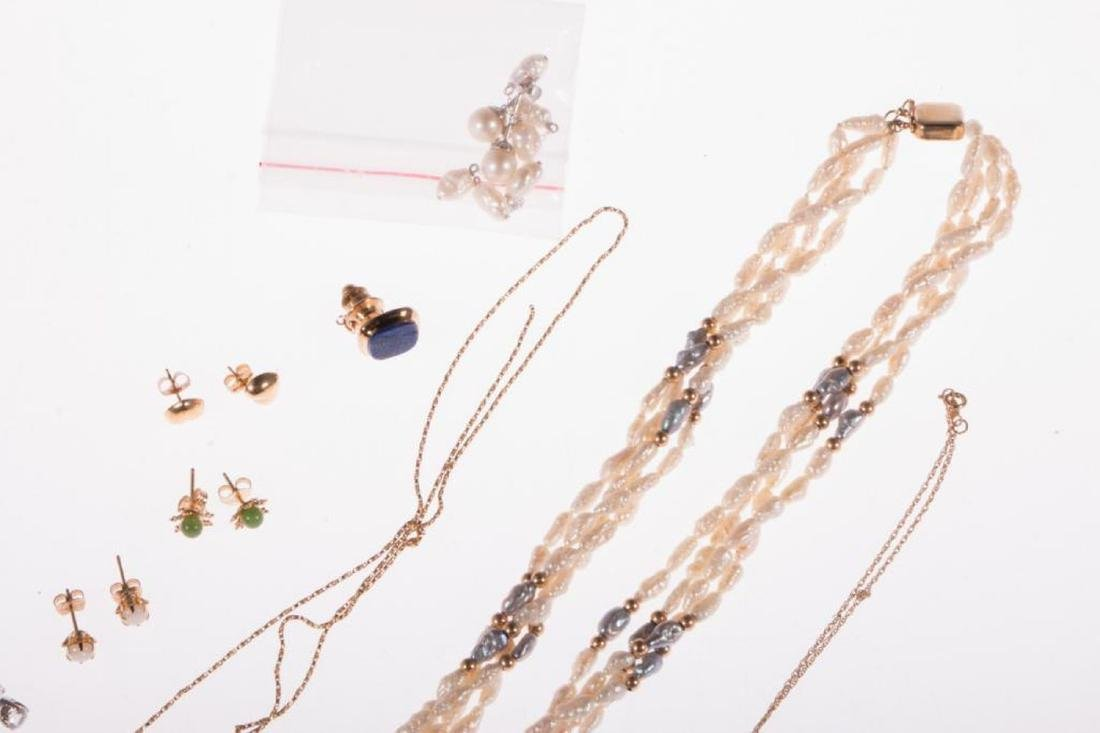 Collection of gem-set and 14k gold jewelry - 5