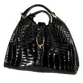 Gucci 1970's Crocodile Belly Original Stirrup Bag