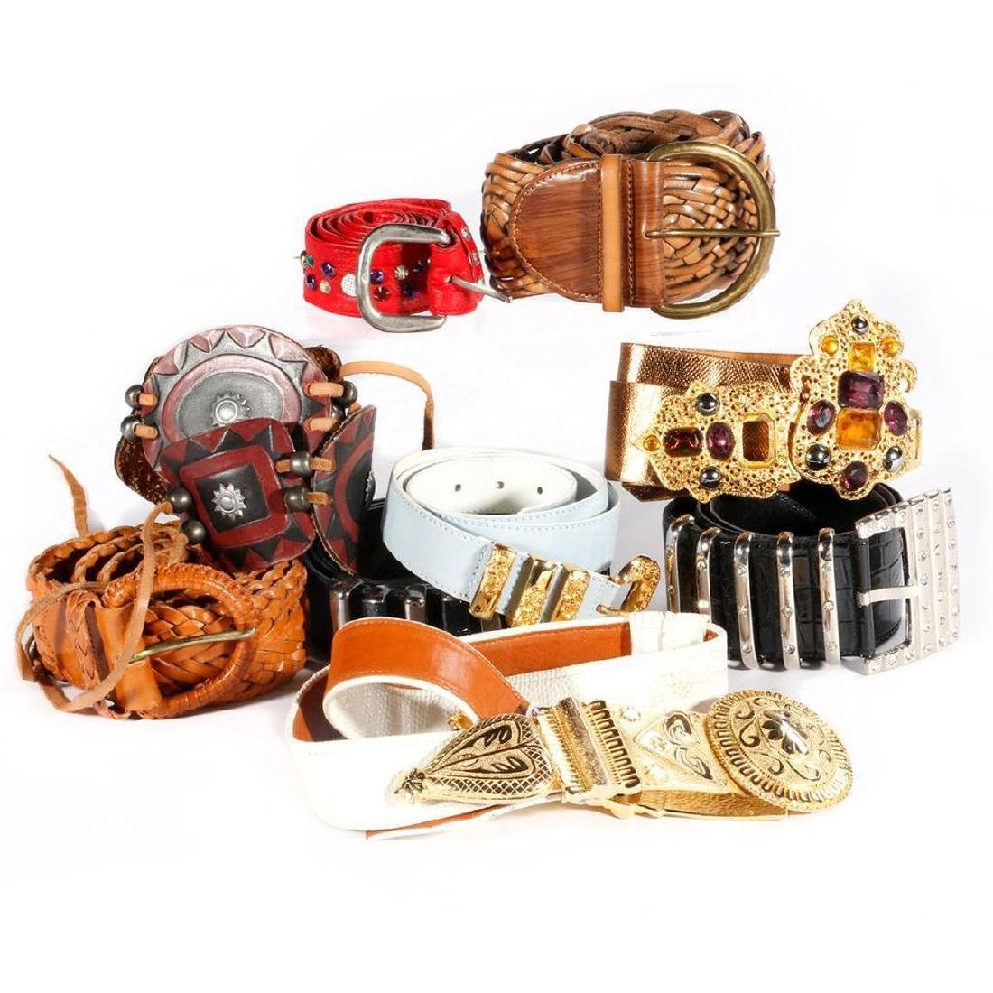 Collection of 11 Designer Belts