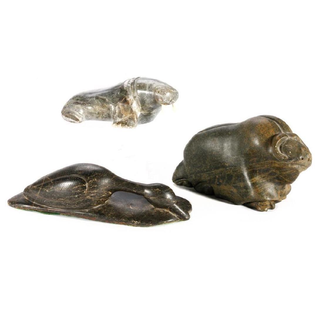 Three Inuit Stone Sculptures