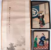 Four Chinese and Japanese works of art.