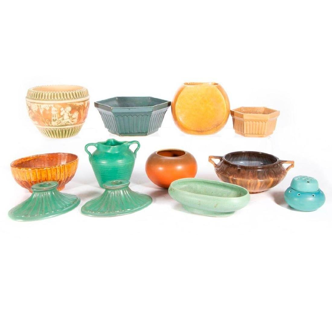 A collection of American art pottery.