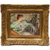 An impressionist portrait Paul Emile Chabas (1869 -