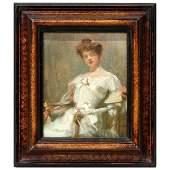 An impressionist portrait Paul Emile Chabas 1869