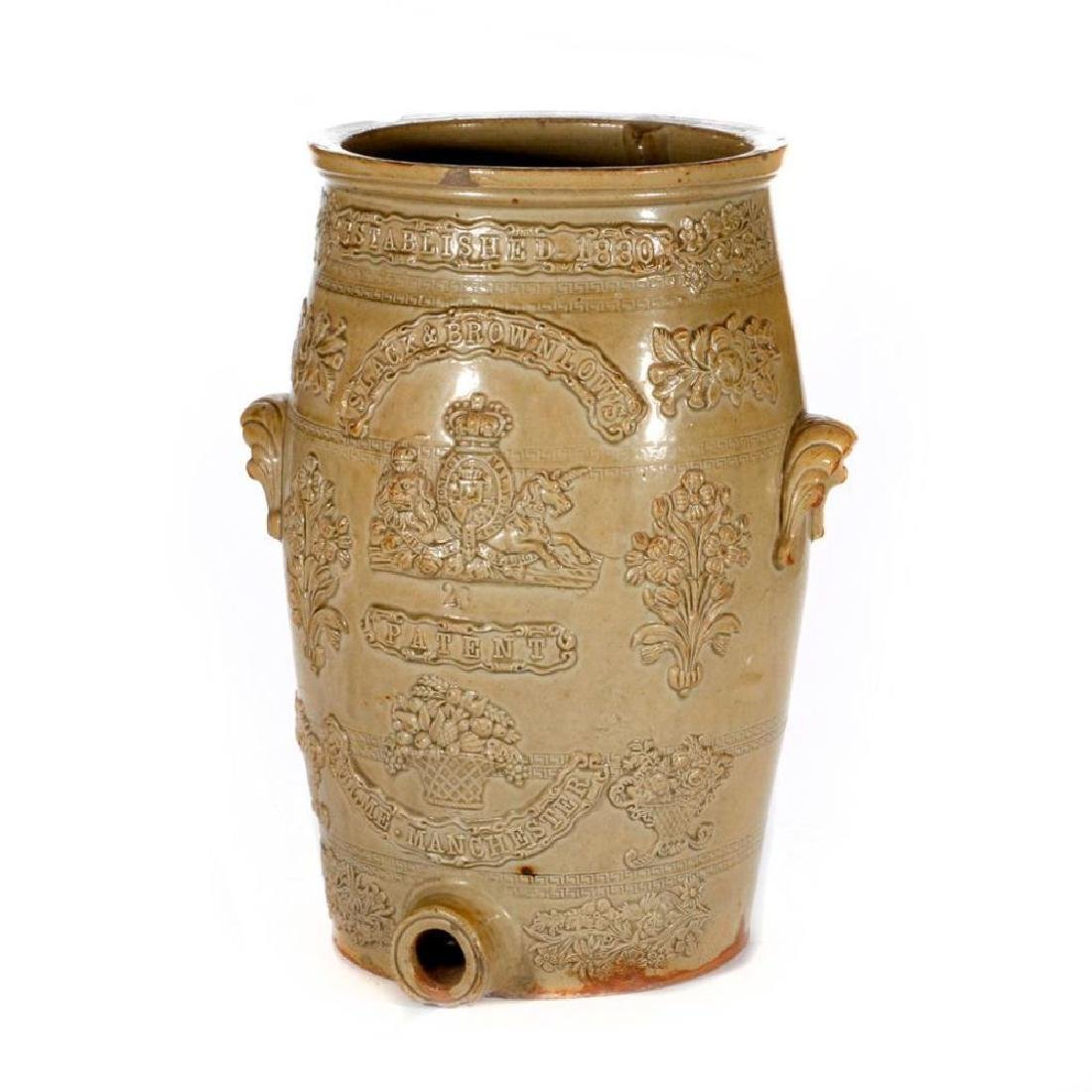 A 19th century English Stoneware spirit barrel.