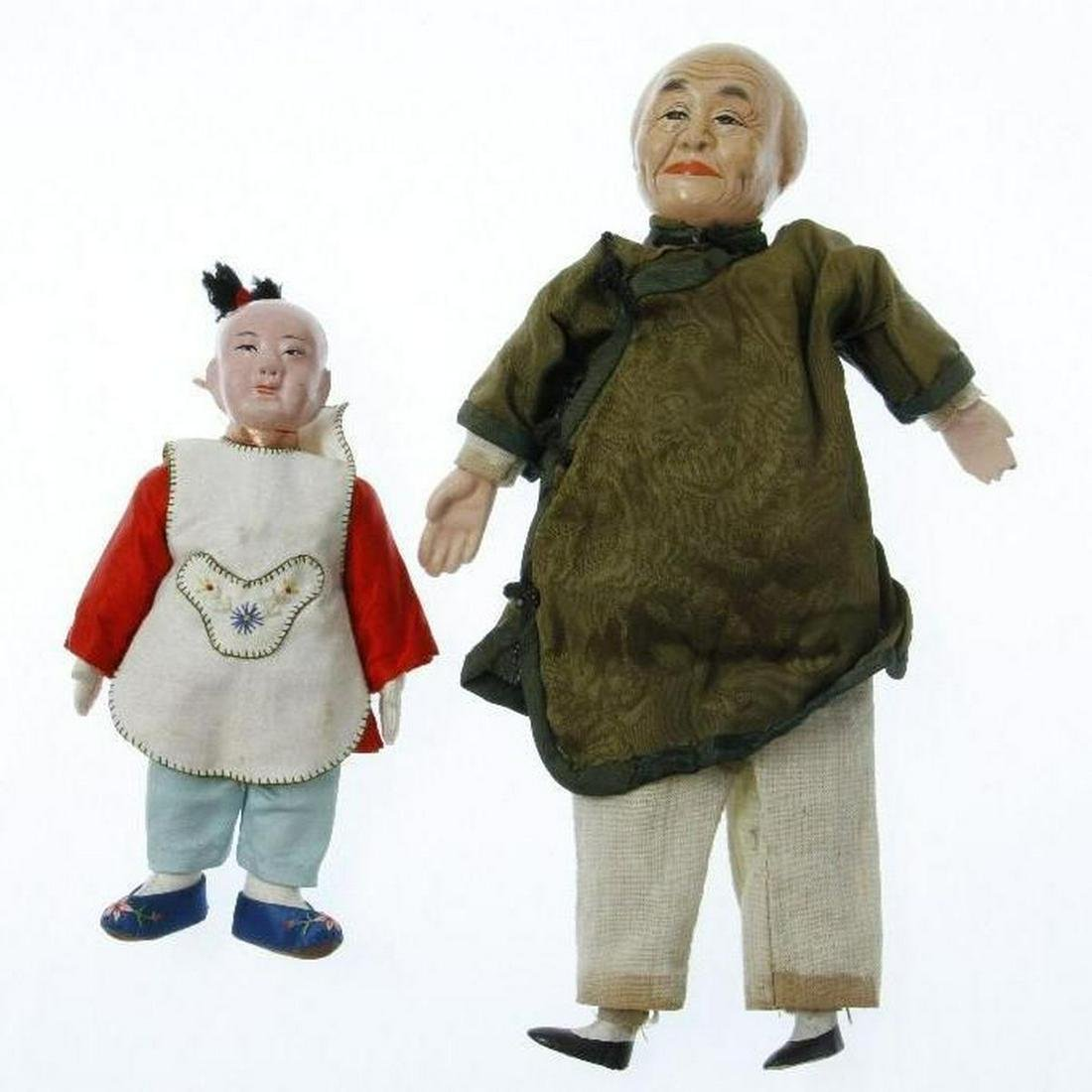 Two Chinese dolls.