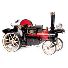 Vintage model steam engine.