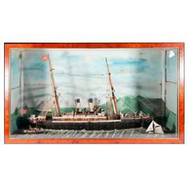 A 19th century nautical diorama.
