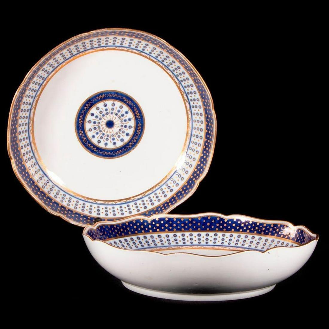 Pair of Sevres porcelain serving bowls.