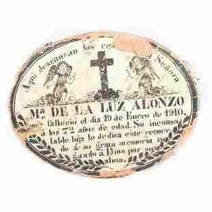 Latin American painted ceramic tomb memorial