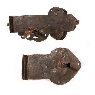 Two cast metal locks