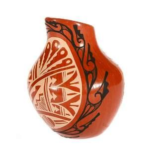 Jemez redware vase