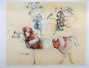 Two watercolors and a lithograph
