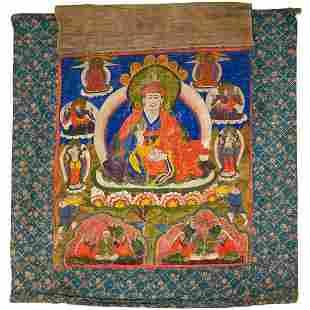 A 19th century Tibetan Teacher Thangka