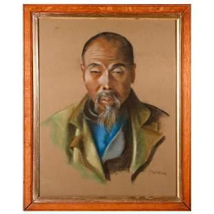 Vintage Asian portrait of an elder