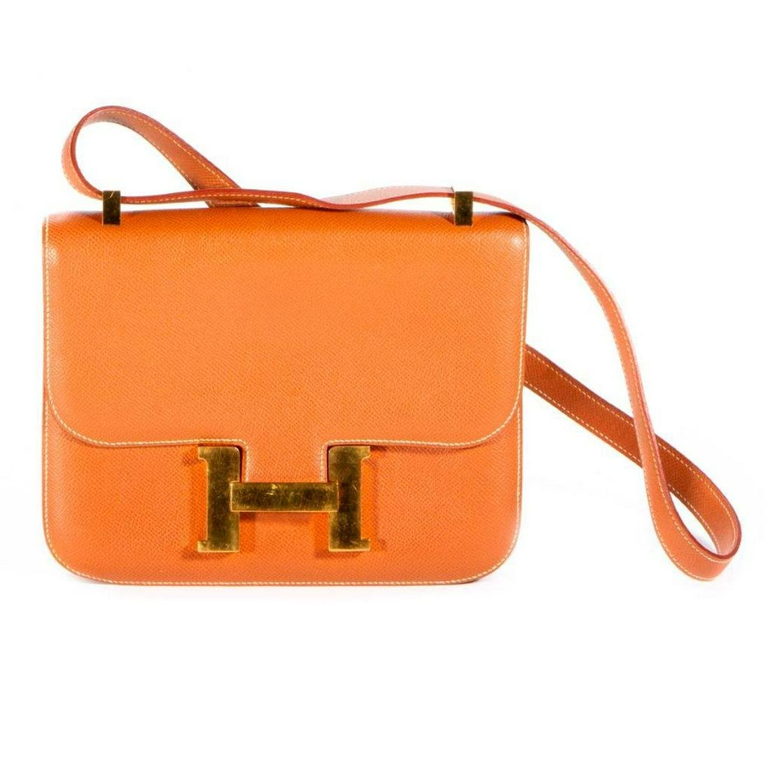 Hermes tan leather purse