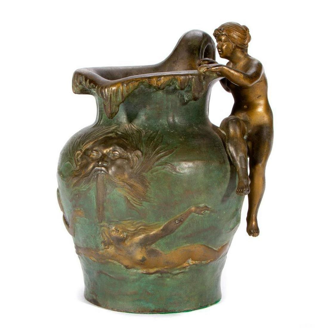 Beaux Arts bronze pitcher.