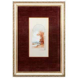 A watercolor Easter souvenier