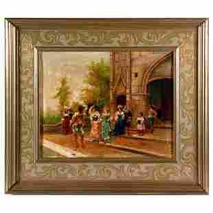 19th century courting scene