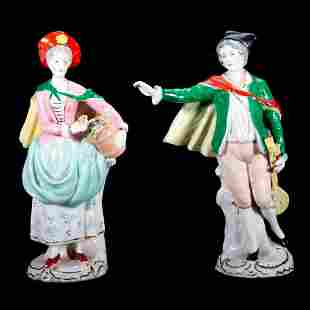 Pair of Continental Porcelain Figures