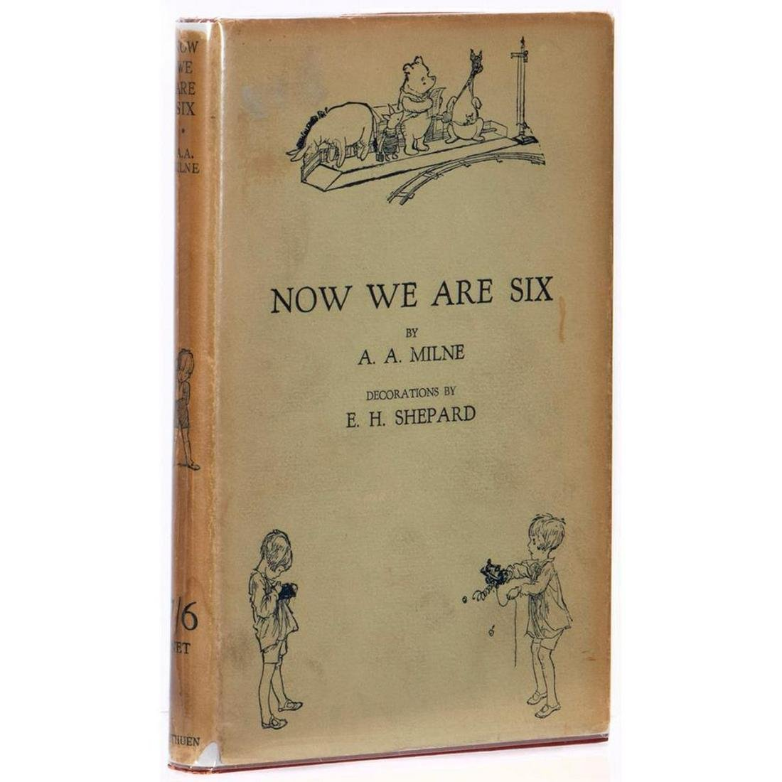 Fine First British Edition of Now We are Six in Dust