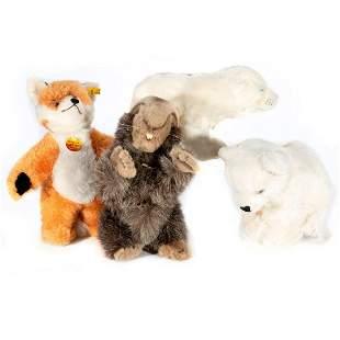 Vintage Steiff Animals Lot of 4