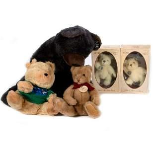 Assorted Vintage Gund Bears Lot of 5