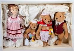 Vintage Steiff Goldilocks and Three Bears Set