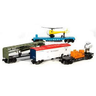 Lionel 4 Freight Cars