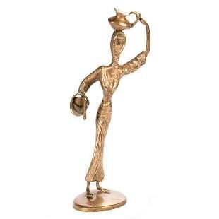 Gilt Bronze Contemporary Statue