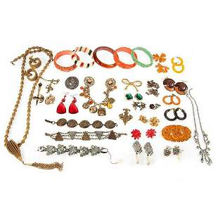 Assorted collection of vintage and costume jewelry