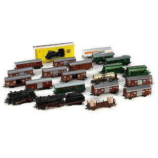 German and Austrian HO Scale train cars