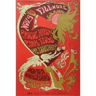 Procol Harum/Pink Floyd Concert Poster