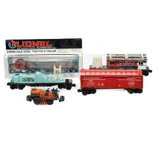 Lionel Gang Car, Lionel Steel Tractor Trailer, Laser