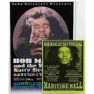 (2) Bob Marley and The Wailer Concert Poster and Bob