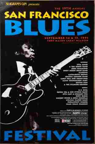 (7) Blues Posters